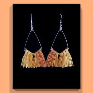 Orange Ombre Earrings